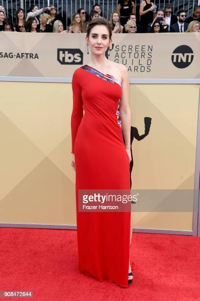 Actor Alison Brie attends the 24th Annual Screen ActorsGuild Awards at The Shrine Auditorium on January 21 2018 in Los Angeles California