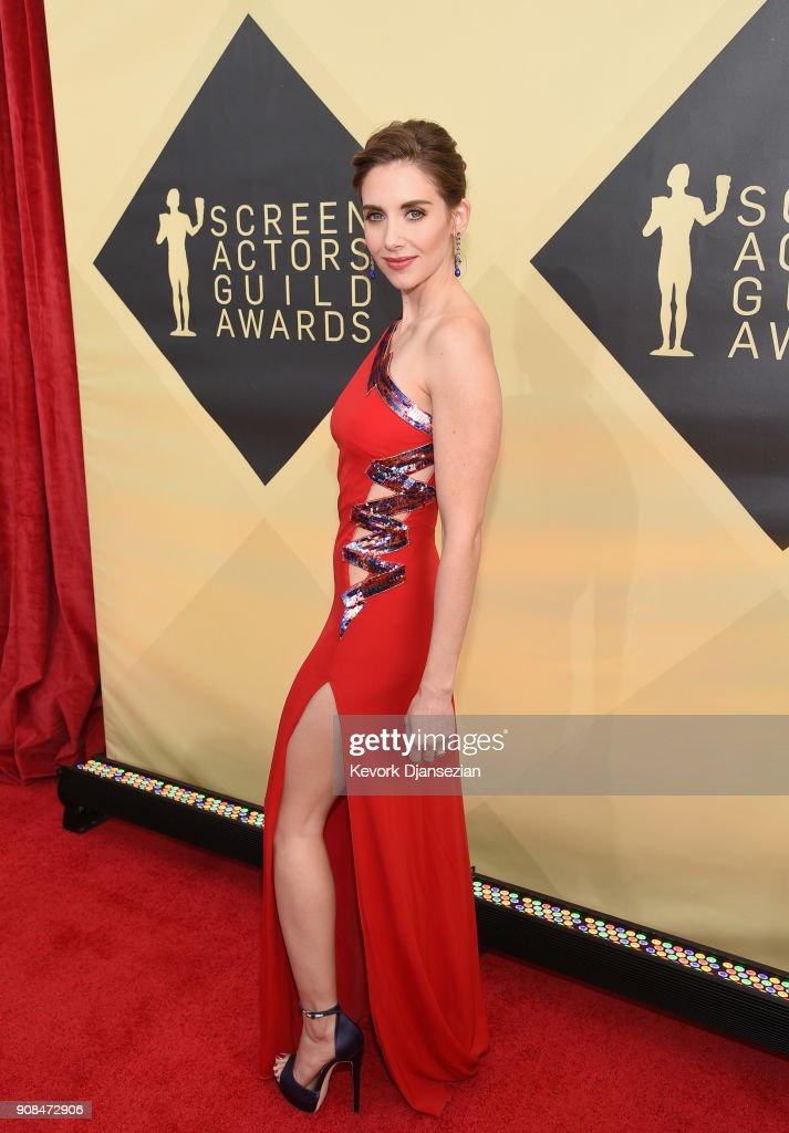 Actor Alison Brie attends the 24th Annual Screen ActorsGuild Awards at The Shrine Auditorium on January 21, 2018 in Los Angeles, California.