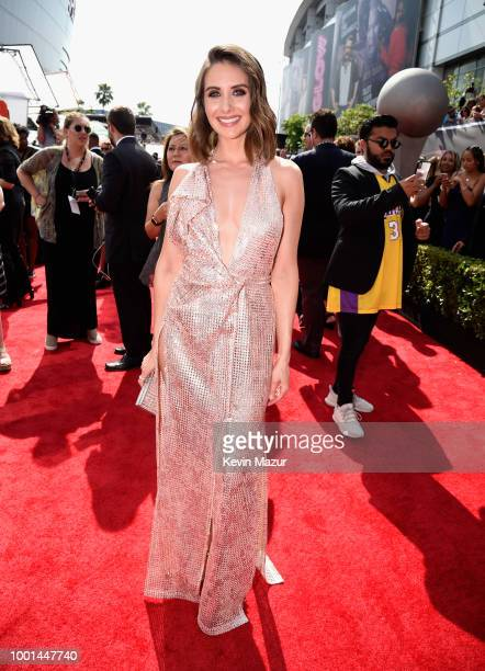 Actor Alison Brie attends the The 2018 ESPYS at Microsoft Theater on July 18 2018 in Los Angeles California