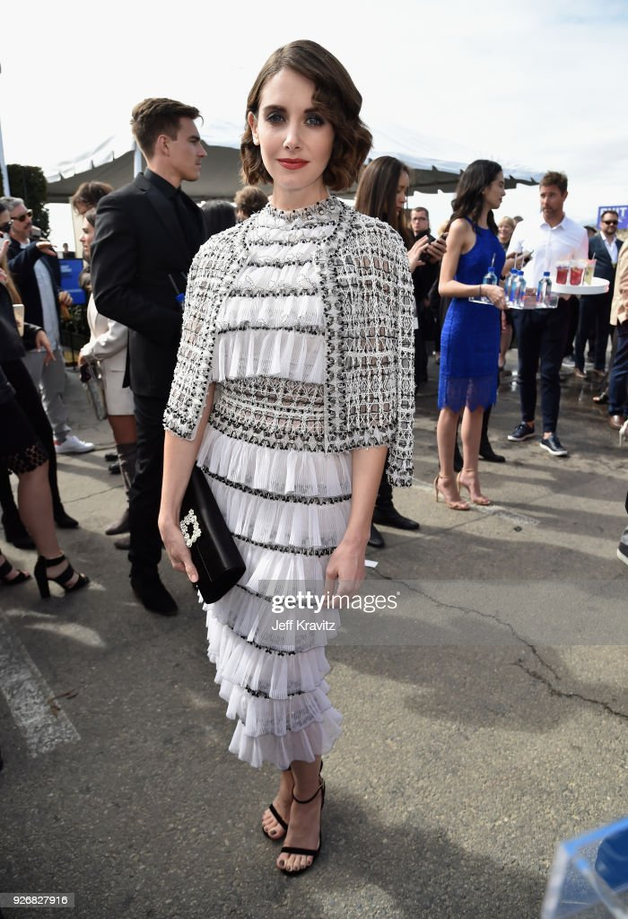 Actor Alison Brie with FIJI Water during the 33rd Annual Film Independent Spirit Awards on March 3, 2018 in Santa Monica, California.