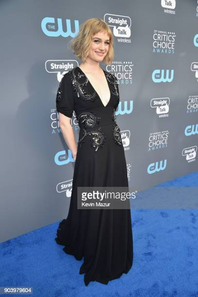 Actor Alison Sudol attends The 23rd Annual Critics' Choice Awards at Barker Hangar on January 11 2018 in Santa Monica California