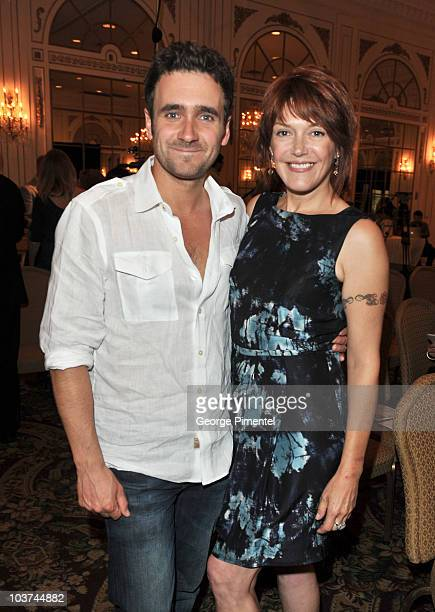Actor Allan Hawco and actress Lynda Boyd attend the 25th Annual Gemini Awards Press Conference at Sutton Place Hotel on August 31, 2010 in Toronto,...