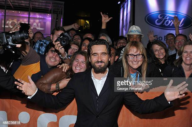 Actor Allan Hawco attends the 'Hyena Road' premiere during the 2015 Toronto International Film Festival at Roy Thomson Hall on September 14 2015 in...
