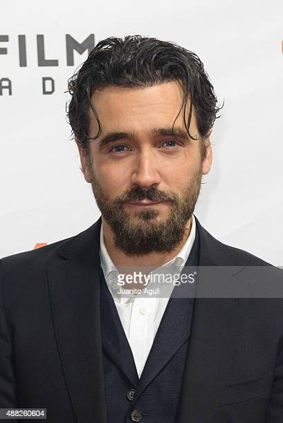 Actor Allan Hawco attends the premiere of 'Hyena Road' at Roy Thomson Hall on September 14 2015 in Toronto Canada
