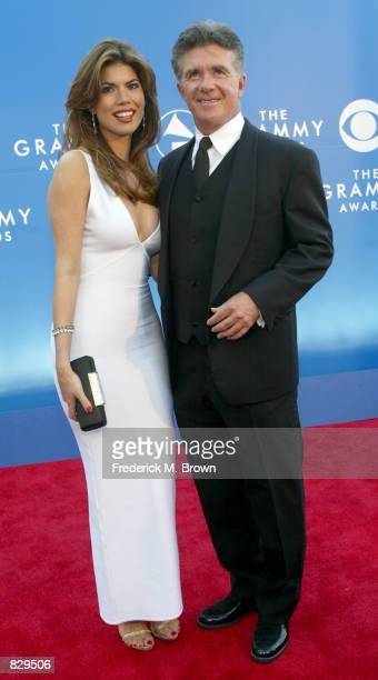 Actor Allan Thicke and date attend the 44th Annual Grammy Awards at Staples Center February 27 2002 in Los Angeles CA