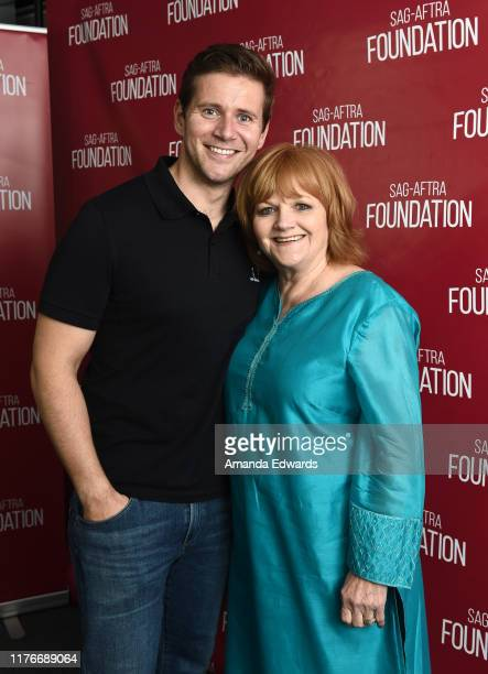 Actor Allen Leech and actress Lesley Nicol attend the SAGAFTRA Foundation Conversations with Downton Abbey at the SAGAFTRA Foundation Screening Room...