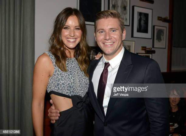 Actor Allen Leech and TV Personality Charlie Webster attend The Grey Goose Party for The Weinstein Company and Elevation Pictures' Imitation Game at...