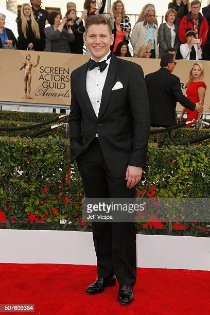 Actor Allen Leech attends the 22nd Annual Screen Actors Guild Awards at The Shrine Auditorium on January 30 2016 in Los Angeles California