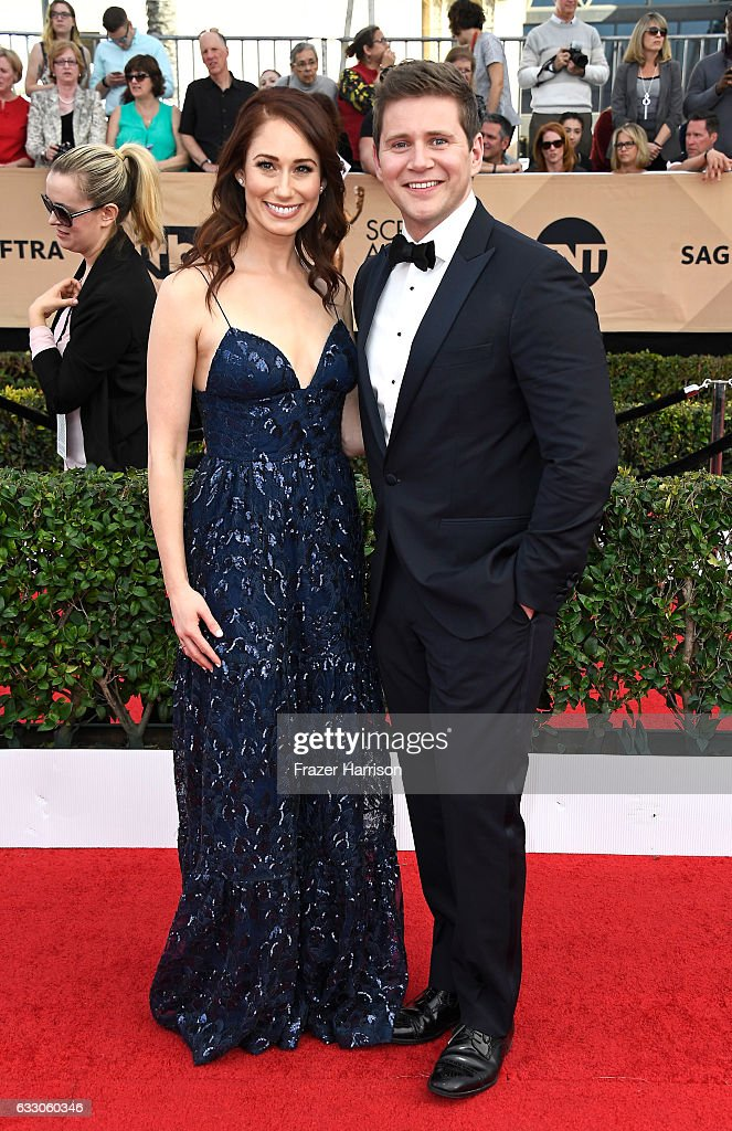 Actor Allen Leech (R) attends The 23rd Annual Screen Actors Guild Awards at The Shrine Auditorium on January 29, 2017 in Los Angeles, California. 26592_008