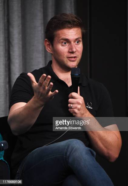 Actor Allen Leech attends the SAGAFTRA Foundation Conversations with Downton Abbey at the SAGAFTRA Foundation Screening Room on September 23 2019 in...