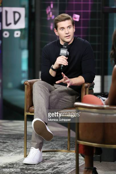 Actor Allen Leech visits Build Studio to discuss 'Bohemian Rhapsody' and 'Downton Abbey' on October 31 2018 in New York City