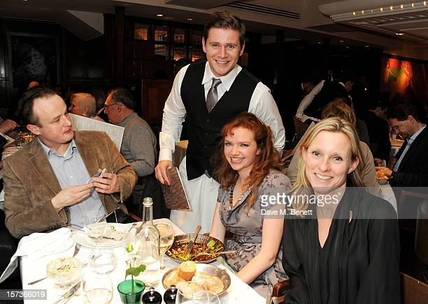 Actor Allen Leech working as a waiter attends One Night Only at The Ivy featuring 30 stage and screen actors working as staff during dinner at The...