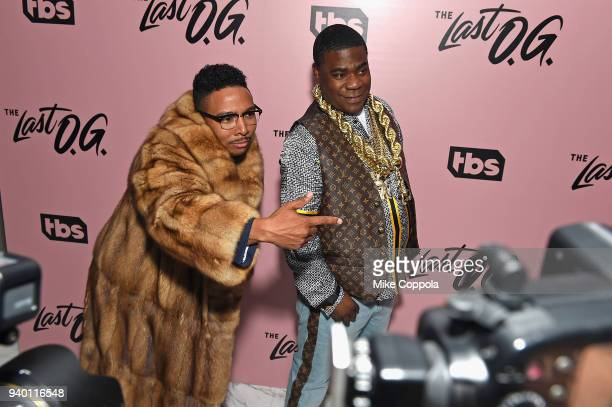 Actor Allen Maldonado and Tracy Morgan attend TBS' The Last OG Premiere at The William Vale on March 29 2018 in New York City 27038_012