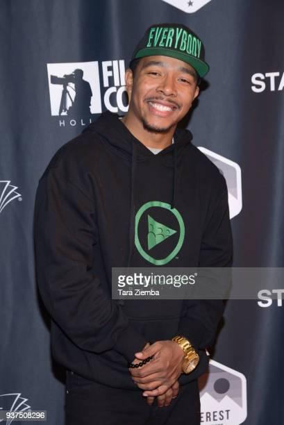 Actor Allen Maldonado attends Film Con Hollywood at Los Angeles Convention Center on March 24 2018 in Los Angeles California