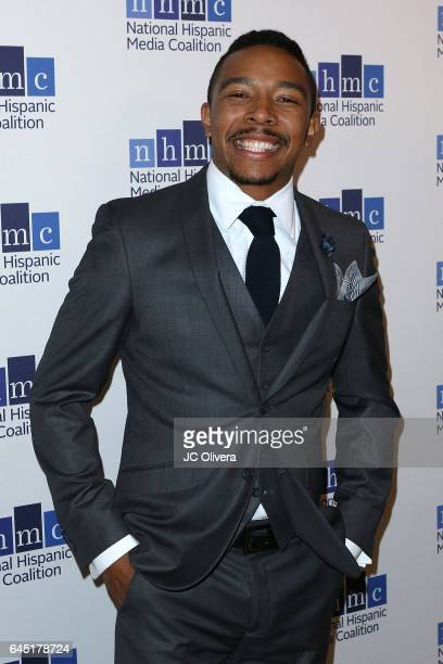 Actor Allen Maldonado attends the 20th Annual National Hispanic Media Coalition Impact Awards Gala at Regent Beverly Wilshire Hotel on February 24...
