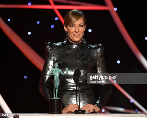 Actor Allison Janney accepts the Outstanding Performance by a Female Actor in a Supporting Role award for 'I Tonya' onstage during the 24th Annual...