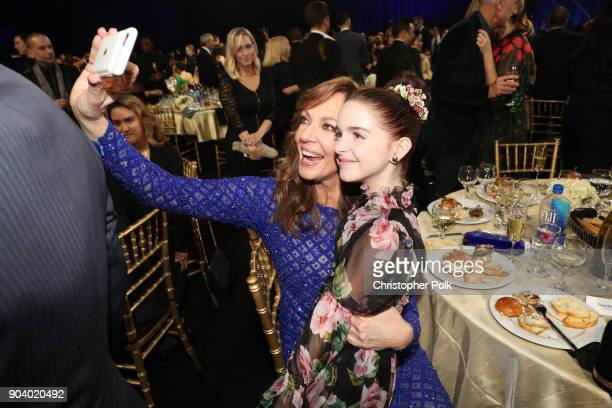 Actor Allison Janney and Mckenna Grace attend The 23rd Annual Critics' Choice Awards at Barker Hangar on January 11 2018 in Santa Monica California