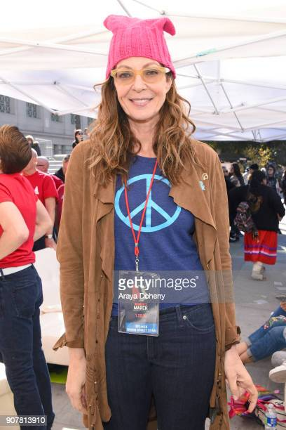 Actor Allison Janney at 2018 Women's March Los Angeles at Pershing Square on January 20 2018 in Los Angeles California