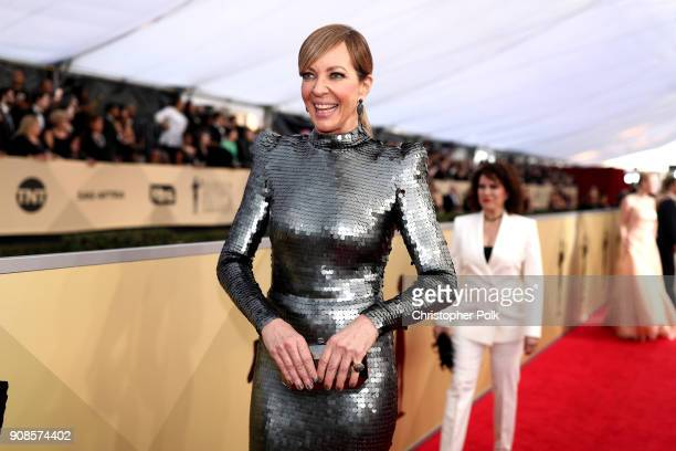 Actor Allison Janney attends the 24th Annual Screen Actors Guild Awards at The Shrine Auditorium on January 21 2018 in Los Angeles California...