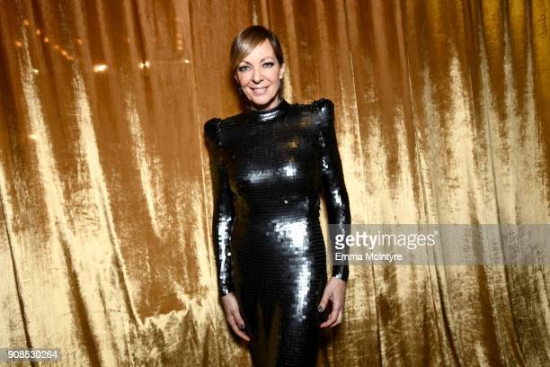 Actor Allison Janney backstage at the 24th Annual Screen Actors Guild Awards at The Shrine Auditorium on January 21 2018 in Los Angeles California...