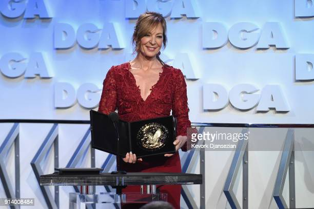 Actor Allison Janney speaks onstage during the 70th Annual Directors Guild Of America Awards at The Beverly Hilton Hotel on February 3 2018 in...