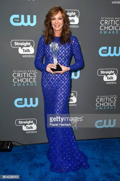 Actor Allison Janney winner of Best Supporting Actress for 'I Tonya' poses in the press room during The 23rd Annual Critics' Choice Awards at Barker...