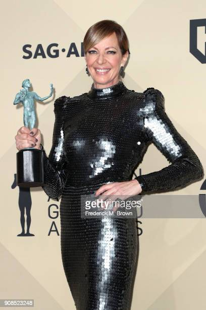 Actor Allison Janney winner of Outstanding Performance by a Female Actor in a Supporting Role for 'I Tonya' poses in the press room during the 24th...