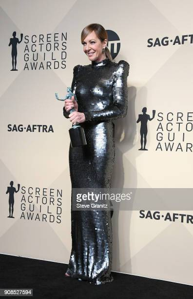 Actor Allison Janney winner of the award for Best Actress in a Supporting Role for 'I Tonya' poses in the press room during the 24th Annual Screen...
