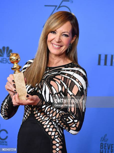 Actor Allison Janney winner of the award for Best Performance by an Actress in a Supporting Role in a Motion Picture for 'I Tonya' poses in the press...