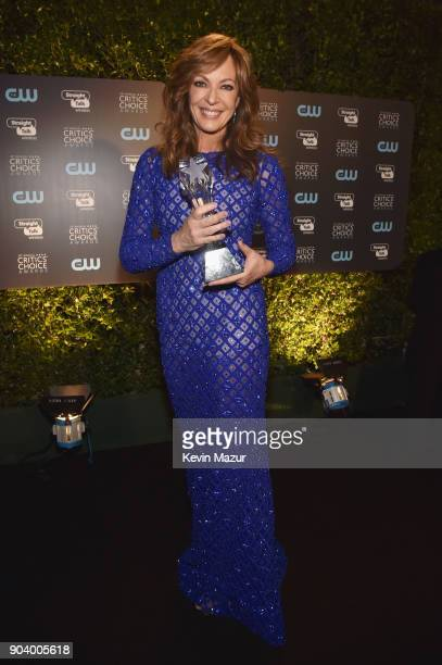 Actor Allison Janney winner of the Best Supporting Actress award for 'I Tonya' attends The 23rd Annual Critics' Choice Awards at Barker Hangar on...