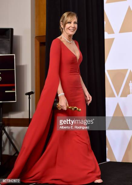 Actor Allison Janney winner of the Best Supporting Actress award for 'I Tonya' poses in the press room during the 90th Annual Academy Awards at...