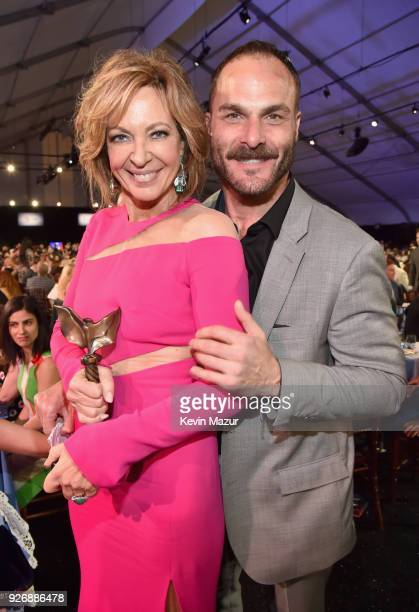 Actor Allison Janney winner of the Best Supporting Female award for 'I Tonya' and director Craig Gillespie pose during the 2018 Film Independent...