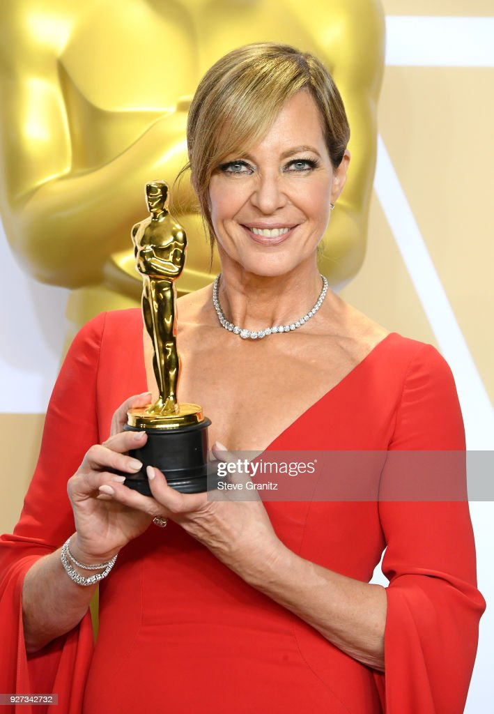 "Actor Allison Janney, winner of the Supporting Actress award for ""I, Tonya"" poses in the press room during the 90th Annual Academy Awards at Hollywood & Highland Center on March 4, 2018 in Hollywood, California."