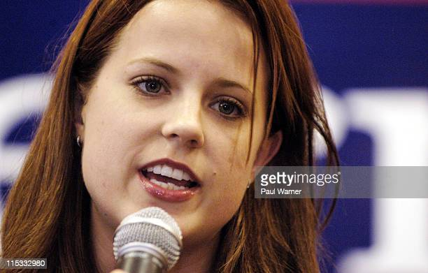 Actor Allison Munn addresses the crowd during a rally in support of Democratic presidential candidate John Kerry on Friday Oct 29 2004 at the...
