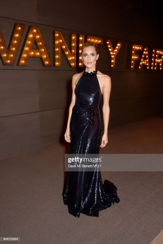 Actor Allison Williams attends the 2017 Vanity Fair Oscar Party hosted by Graydon Carter at Wallis Annenberg Center for the Performing Arts on February 26, 2017 in Beverly Hills, California.