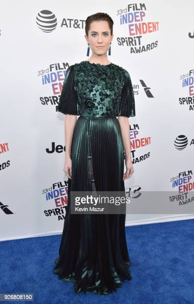 Actor Allison Williams attends the 2018 Film Independent Spirit Awards on March 3, 2018 in Santa Monica, California.