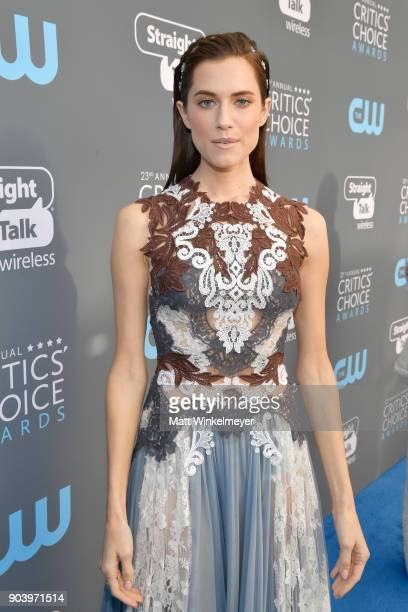 Actor Allison Williams attends The 23rd Annual Critics' Choice Awards at Barker Hangar on January 11 2018 in Santa Monica California