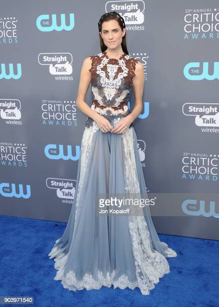 Actor Allison Williams attends The 23rd Annual Critics' Choice Awards at Barker Hangar on January 11 2018 in Santa Monica California