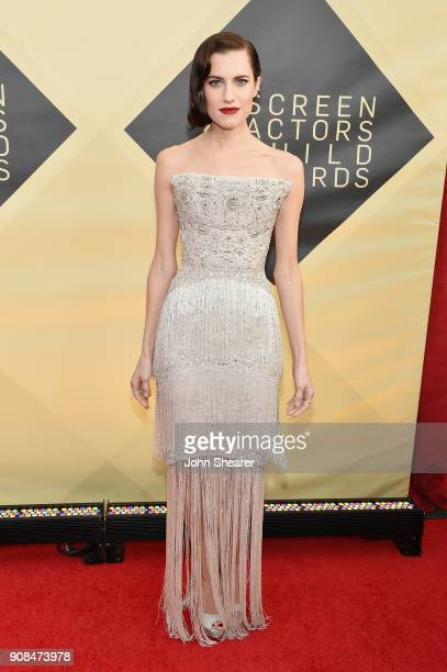 Actor Allison Williams attends the 24th Annual Screen Actors Guild Awards at The Shrine Auditorium on January 21 2018 in Los Angeles California
