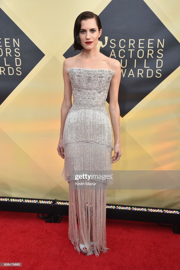 Actor Allison Williams attends the 24th Annual Screen Actors Guild Awards at The Shrine Auditorium on January 21, 2018 in Los Angeles, California. 27522_007