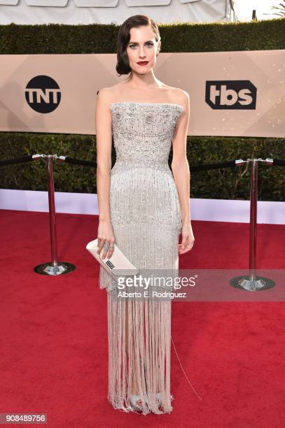 Actor Allison Williams attends the 24th Annual Screen Actors Guild Awards at The Shrine Auditorium on January 21 2018 in Los Angeles California...