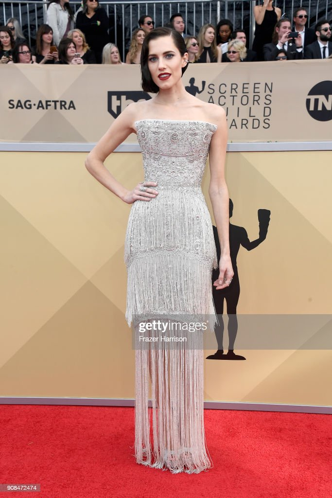Actor Allison Williams attends the 24th Annual Screen ActorsGuild Awards at The Shrine Auditorium on January 21, 2018 in Los Angeles, California.