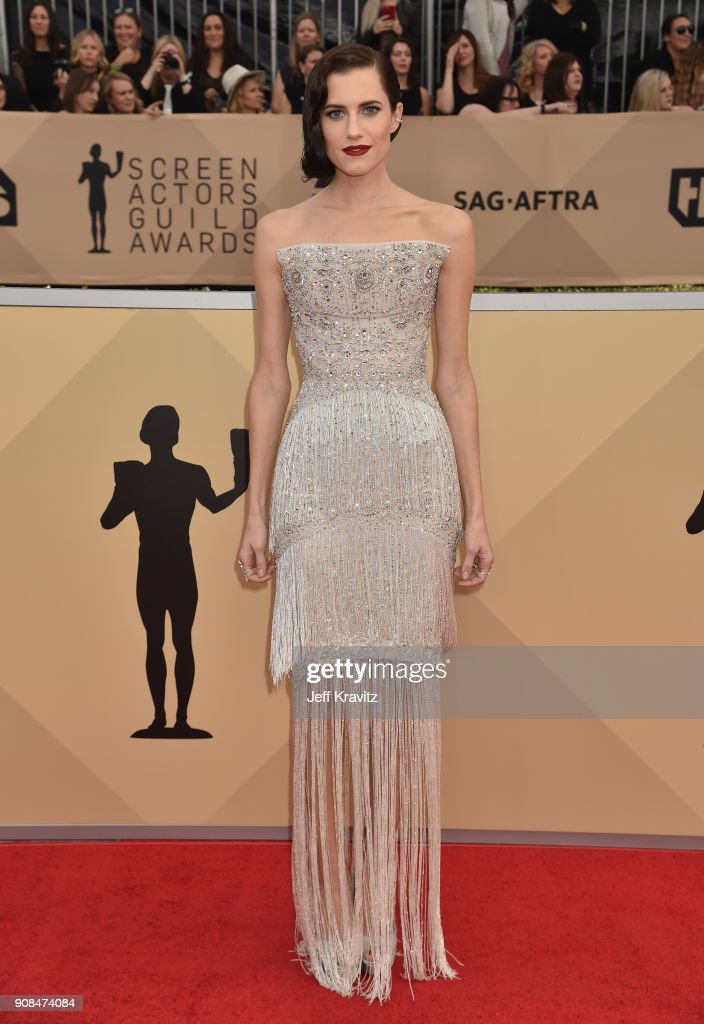 Actor Allison Williams attends the 24th Annual Screen Actors Guild Awards at The Shrine Auditorium on January 21, 2018 in Los Angeles, California.