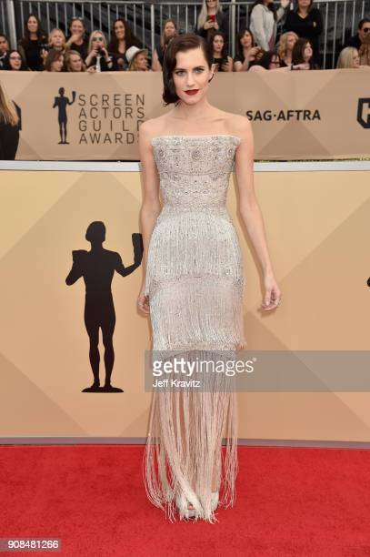 Actor Allison Williams attends the 24th Annual Screen ActorsGuild Awards at The Shrine Auditorium on January 21 2018 in Los Angeles California