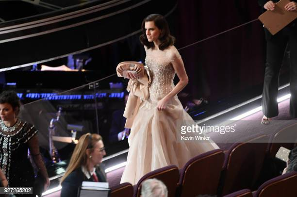 Actor Allison Williams attends the 90th Annual Academy Awards at the Dolby Theatre at Hollywood Highland Center on March 4 2018 in Hollywood...