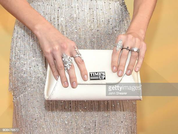 Actor Allison Williams fashion detail attends the 24th Annual Screen Actors Guild Awards at The Shrine Auditorium on January 21 2018 in Los Angeles...