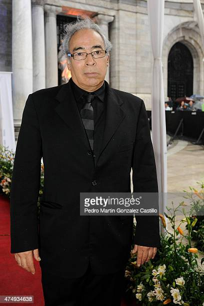Actor Alonso Echánove nominated for Cuatro Lunas during the red carpet of the 57th Ariel Awards Ceremony at Bellas Artes Palace on May 27 2015 in...