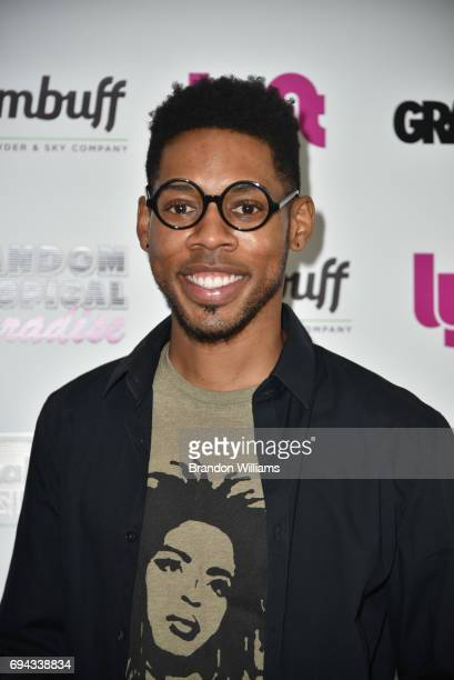 Actor Alphonso McAuley attends the premiere of Gunpowder and Sky's 'Random Tropical Thunder' at Laemmle Monica Film Center on June 9 2017 in Santa...
