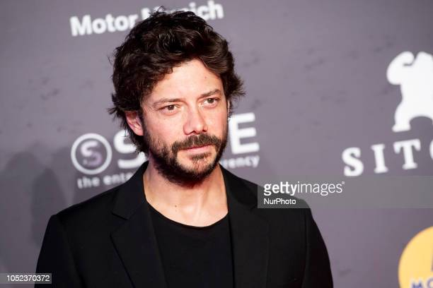 Actor Alvaro Morte at the premiere film of La sombra de la ley during the 51 edition of Festival Internacional de Cinema Fantastic de Catalunya...