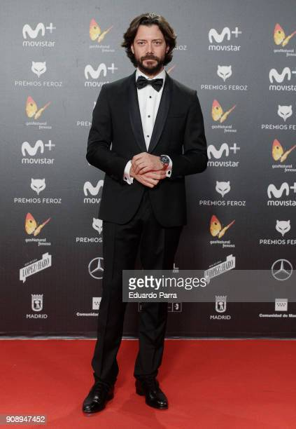 Actor Alvaro Morte attends Feroz Awards 2018 at Magarinos Complex on January 22 2018 in Madrid Spain